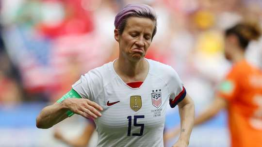 Rapinoe was criticised by Trump for speaking before winning, but now she has won. GOAL