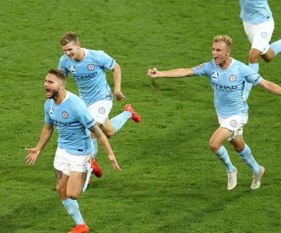 Melbourne nicked the winner just minutes from time. GOAL