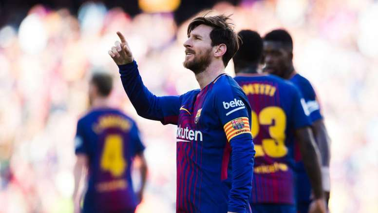 Messi will look to continue his good form against Roma. GOAL