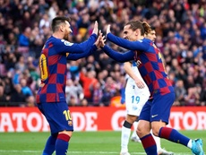 Griezmann still learning to play alongside Messi. GOAL