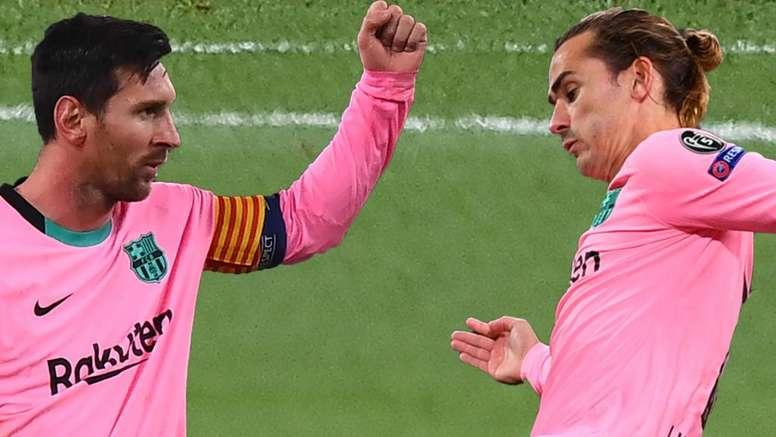 Griezmann cumpre promessa e parceria com Messi se mostra mais afinada no Barcelona. AFP