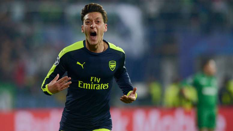 Ozil in action for Arsenal. Goal
