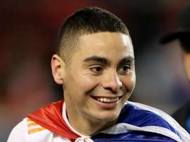 Almiron has been linked to a move to Tyneside. AFP