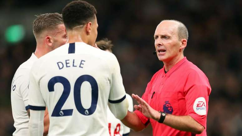 Mike Dean's VAR was involved a great deal in Spurs v Man City. GOAL