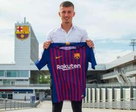 Van Beijnen has joined Barcelona from NAC Breda. GOAL