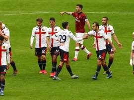Il Milan cade in casa contro il Genoa. Goal