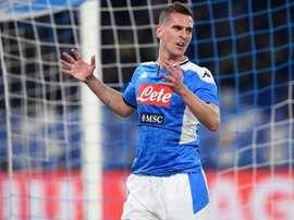 Napoli, solo lavoro in palestra per Milik: è in dubbio per l'Inter. Goal