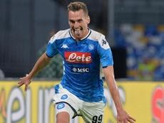 Napoli-Verona 2-0: Milik risorge, Ancelotti torna a vincere