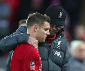 Milner injury 'does not look good' - Klopp. Goal