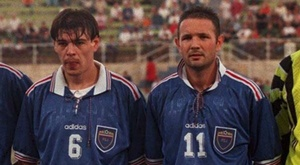 Milosevic praised Mihajlovic (both pictured) and said he was the best at taking free-kicks. GOAL