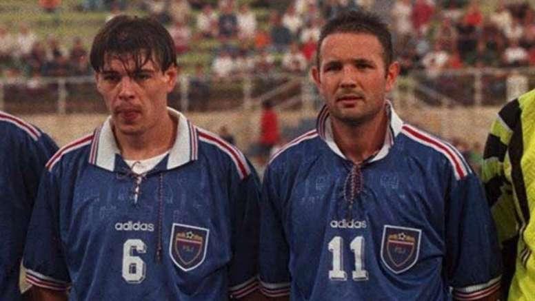 Milosevic praised Mihajlovic (both pictured) and said he was the best at taking free-kicks. GOAL