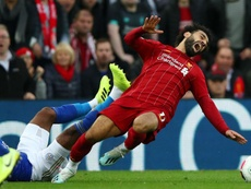 Salah got injured. GOAL
