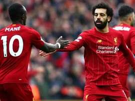 Mohamed Salah (R) was once again vital for Liverpool. GOAL