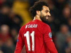 Salah back in Liverpool training. GOAL