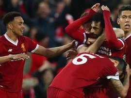 Salah a inscrit un doublé. Goal