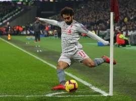 Salah target of racist abuse at West Ham. GOAL
