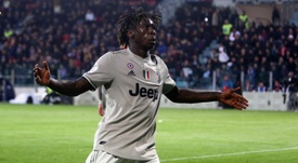 Moise Kean was the target of racial abuse from Cagliari fans. GOAL