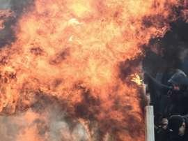 Lancia di molotov ad Atene. Goal