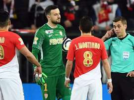 Falcao's goal was disallowed after VAR reference. AFP