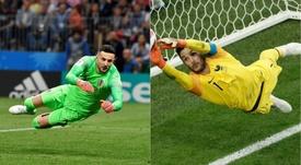 Subasic e Lloris chegam à final com números iguais na Copa.Goal