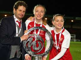 Arsenal women's coach Montemurro has enjoyed quite the rise. GOAL