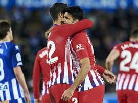 Simeone praises goal-shy duo Costa & Morata. GOAL
