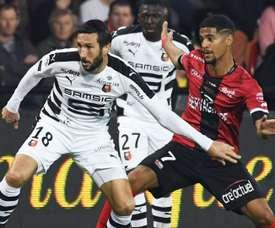 Morgan Amalfitano et Ludovic Blas, Guingamp-Rennes, Ligue 1. GOAL