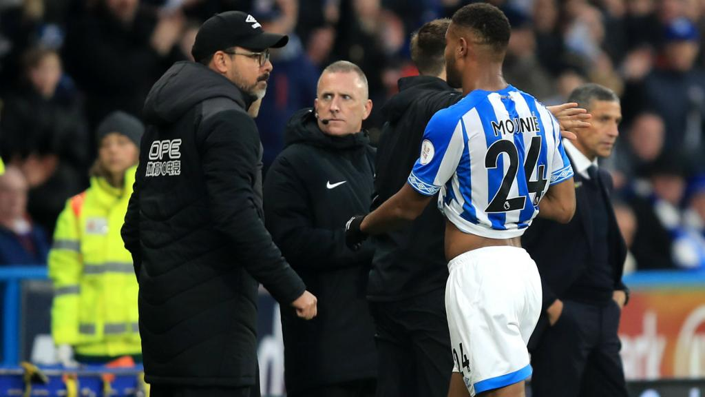 Mounie's red cost us Brighton defeat, says Huddersfield boss Wagner