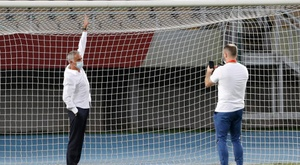 Les buts de Shkendija étaient trop petits. goal