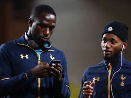 Moussa Sissoko, Georges-Kevin Nkoudou,  lors de son étape à Tottenham. AFP