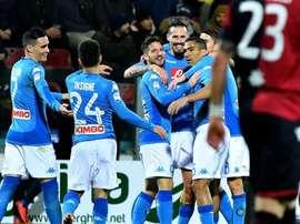 Naples a montré un beau visage ce soir. Goal