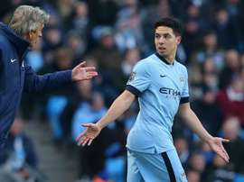 Nasri has teamed up with Manuel Pellegrini once again at West Ham. GOAL