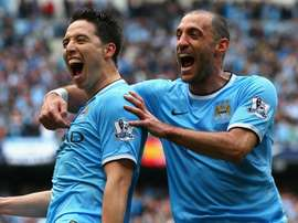 Nasri's former City teammate is keen for a reunion at West Ham. GOAL