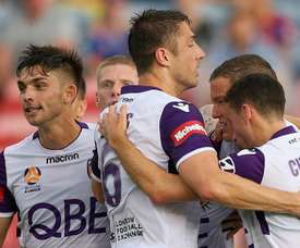 Kilkenny slotted home form the penalty spot for Perth Glory. GOAL