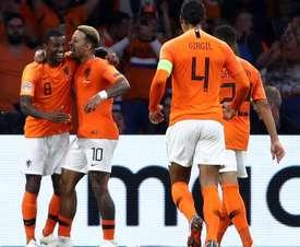 Wijnaldum scored in the win over Germany. GOAL