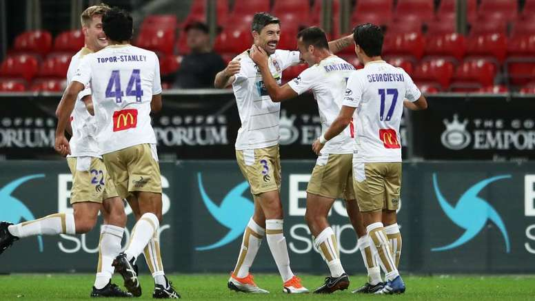 Newcastle Jets finally put a win on the board after beating Sydney. GOAL