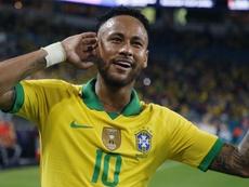 Neymar demorou, mas decidiu contra a Colômbia. AFP