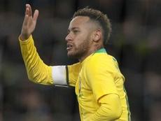 Neymar Brazil Uruguay. Goal