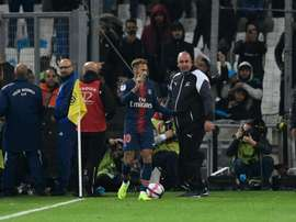 Neymar was targeted by a section of Marseille fans. GOAL