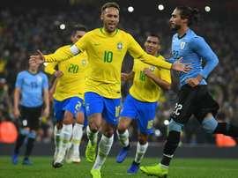 Brazil captain Neymar pleased with stern Uruguay test. Goal