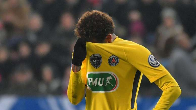 Neymar will not be part of Paris Saint-Germain's squad on Sunday. GOAL