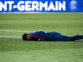 Neymar was stretchered off in tears during the game. GOAL