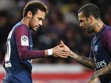 Alves adresse un message à Neymar. EFE