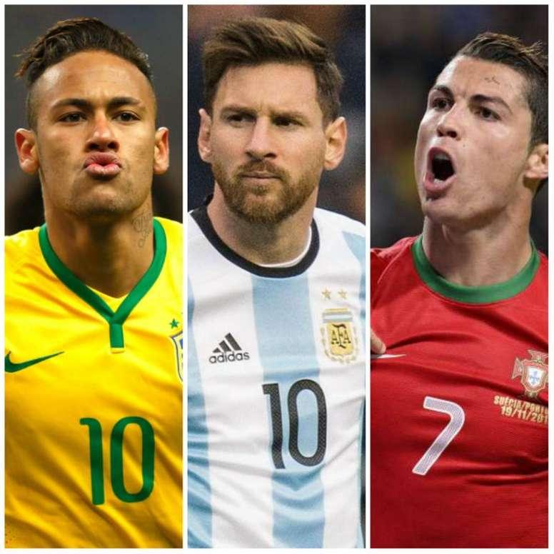 Neymar x Messi x CR7: quem mais irá brilhar no Mundial? Goal