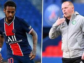 Treinador do Celtic reclama de Neymar. EFE