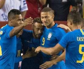 Neymar Richarlison Alex Sandro Casemiro Brazil El Salvador Friendly. Goal