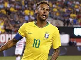 Neymar was booked for simulation against El Salvador. GOAL