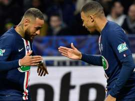 Mbappe and Neymar very strong together after PSG duo dazzle against Lyon. AFP