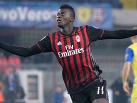 M'Baye Niang in action with Milan. Goal