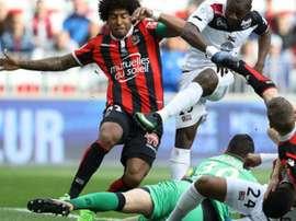 Dante sous le maillot de Nince en Ligue 1. AFP